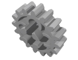 Technic, Gear 16 Tooth  First Version - 4 Round Holes , Light Bluish Gray (4019 / 4019194 / 4211563 / 4562487)