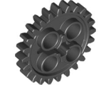 Technic, Gear 24 Tooth (New Style with Single Axle Hole), Dark Bluish Gray (3648 / 4514558 / 6133119)