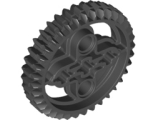Technic, Gear 36 Tooth Double Bevel, Black (32498 / 4177434 / 4255563)