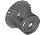 Technic, Gear Differential with Inner Tabs and Closed Center, 28 Bevel Teeth, Dark Bluish Gray (62821b / 4525184 / 4562210)