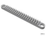 Technic, Gear Rack 1 x 10 with Holes, Light Bluish Gray (6592 / 4211830)