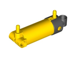 Pneumatic Cylinder with 2 Inlets and Rounded End Medium (48mm), Yellow (47224c01 / 4205293 / 4563144)