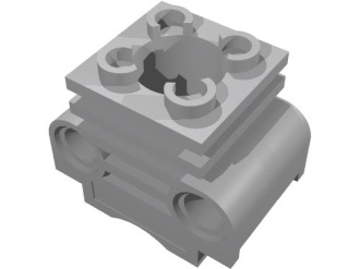 Technic Engine Cylinder without Side Slots, Light Bluish Gray (2850b / 4234251)