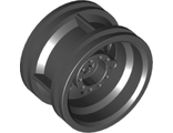 Wheel 30.4mm D. x 20mm with No Pin Holes and Reinforced Rim, Black (56145 / 4299389)