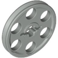 Technic Wedge Belt Wheel (Pulley), Light Gray (4185 / 4100502)