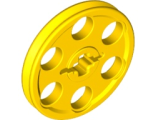 Technic Wedge Belt Wheel (Pulley), Yellow (4185 / 418524 / 4494224)