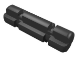 Technic, Axle 2 Notched, Black (32062 / 3206226 / 4109810)