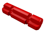 Technic, Axle 2 Notched, Red (32062 / 4142865)