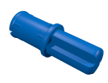 Technic, Axle Pin with Friction Ridges Lengthwise, Blue (43093 / 4206482 / 4309323)