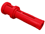 Technic, Pin Long with Friction Ridges Lengthwise and Stop Bush, Red (32054)