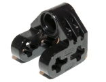 Technic, Axle and Pin Connector Perpendicular Split, Black (92907 / 4610371 / 6279021)