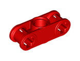 Technic, Axle and Pin Connector Perpendicular 3L with Center Pin Hole, Red (32184 / 4128598)
