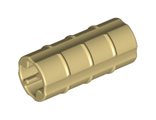 Technic, Axle Connector 2L Ridged with x Hole x Orientation, Tan (6538b / 4140453 / 4207456 / 65385)