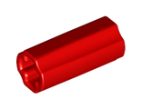 Technic, Axle Connector 2L  Smooth with x Hole + Orientation , Red (6538c / 4513174)