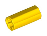 Technic, Axle Connector 2L Smooth with x Hole + Orientation, Yellow (6538c / 4519010)