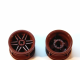 Wheel 30.4mm D. x 20mm with No Pin Holes and Reinforced Rim, Reddish Brown (56145 / 4618633)