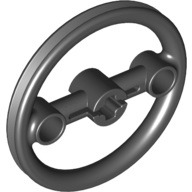 Technic, Steering Pulley Large, Black (3736 / 6005837)