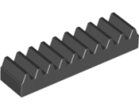 Technic, Gear Rack 1 x 4, Black (3743 / 4205760)