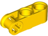 Technic, Axle and Pin Connector Perpendicular 3L with 2 Pin Holes, Yellow (42003 / 4175441 / 4200324)