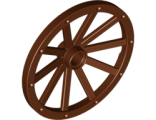 Wheel Wagon Huge (43mm D.), Reddish Brown (33211 / 4625993)