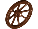 Wheel Wagon Large 33mm D., Hole Notched for Wheels Holder Pin, Reddish Brown (4489b / 4211279)