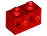 Technic, Brick 1 x 2 with Holes, Red (32000 / 4179355)