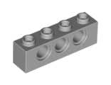 Technic, Brick 1 x 4 with Holes, Light Bluish Gray (3701 / 4211441)