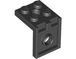 Bracket 2 x 2 - 2 x 2 with 2 Holes, Black (3956 / 395626 / 6019217)