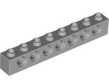 Technic, Brick 1 x 8 with Holes, Light Bluish Gray (3702 / 4211442)