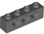 Technic, Brick 1 x 4 with Holes, Dark Bluish Gray (3701 / 4213607)