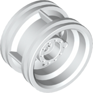 Wheel 30.4mm D. x 20mm with No Pin Holes and Reinforced Rim, White (56145 / 4496197 / 4624514 / 6151728)