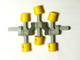 Technic Engine Crankshaft, Yellow (2853 / 4119474)