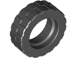 Tire 17.5mm D. x 6mm with Shallow Staggered Treads, Black (42611 / 4239237 / 4515290)