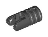 Hinge Cylinder 1 x 2 Locking with 2 Fingers, 9 Teeth and Axle Hole on Ends with Slots, Black (30553 / 4143372)