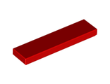 Tile 1 x 4, Red (2431 / 243121)