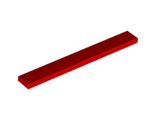 Tile 1 x 8, Red (4162 / 416221)