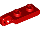 Hinge Plate 1 x 2 Locking with 1 Finger On End undetermined type, Red (44301)