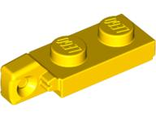 Hinge Plate 1 x 2 Locking with 1 Finger On End undetermined type, Yellow (44301)