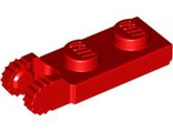 Hinge Plate 1 x 2 Locking with 2 Fingers on End undetermined type, Red (44302)