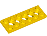 Technic, Plate 2 x 6 with 5 Holes, Yellow (32001 / 4107750 / 6038194)