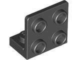 Bracket 1 x 2 - 2 x 2 Inverted, Black (99207 / 6000650)