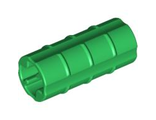 Technic, Axle Connector 2L Ridged with x Hole x Orientation, Green (6538b / 4113806 / 4234660)