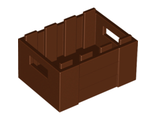 Container, Crate with Handholds, Reddish Brown (30150 / 4211185)