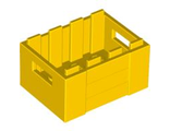 Container, Crate with Handholds, Yellow (30150 / 4599378)