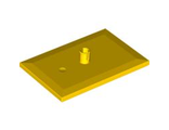 Train Bogie Plate (Tile, Modified 6 x 4 with 5mm Pin), Yellow (4025 / 4556785 / 6051861 / 6086730)