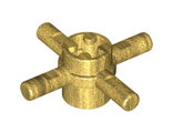 Technic, Axle Connector Hub with 4 Bars, Pearl Gold (48723 / 4587274)