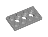 Technic, Plate 2 x 4 with 3 Holes, Light Bluish Gray (3709b / 4211444)