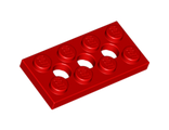 Technic, Plate 2 x 4 with 3 Holes, Red (3709b / 370921)
