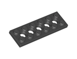 Technic, Plate 2 x 6 with 5 Holes, Black (32001 / 3200126)