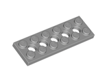 Technic, Plate 2 x 6 with 5 Holes, Light Bluish Gray (32001 / 4211542)